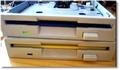 La marche impériale avec des lecteurs de disquettes