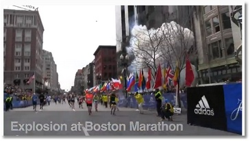 Vidéo des explosions au marathon de Boston