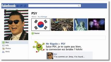 La véritable histoire de PSY sur Facebook
