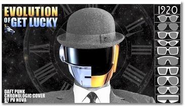 L'évolution de Get Lucky (Daft Punk)