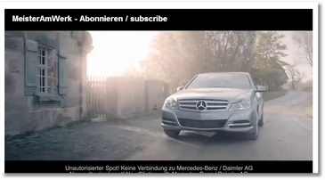 Une fausse pub Mercedes fait le buzz