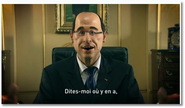 Hollande chante Emploioutai (les Guignols)