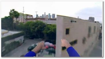Superman avec une GoPro
