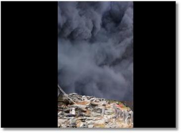 Au coeur d'une éruption de volcan