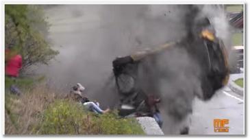 Gros crash lors d'un rallye auto