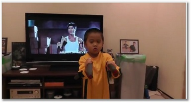 Un mini Bruce Lee de 4 ans !